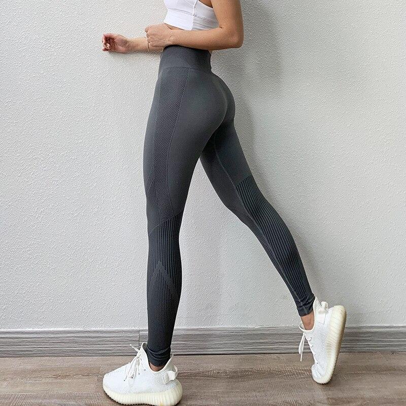 Fitness taille haute Legging ventre contrôle sans couture énergie Gymwear entraînement en cours d'exécution vêtements de sport Yoga pantalon hanche levage vêtements d'entraînement