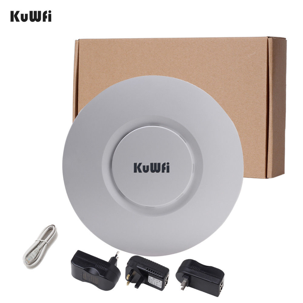 Image 5 - KuWfi Indoor Wireless Router 300Mbps Ceiling AP Router 2.4Ghz WiFi Access Point AP for Hotel 48V POE WI FI Signal Amplifier