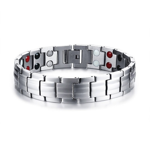 BLACK Magnetic Bracelet Men...
