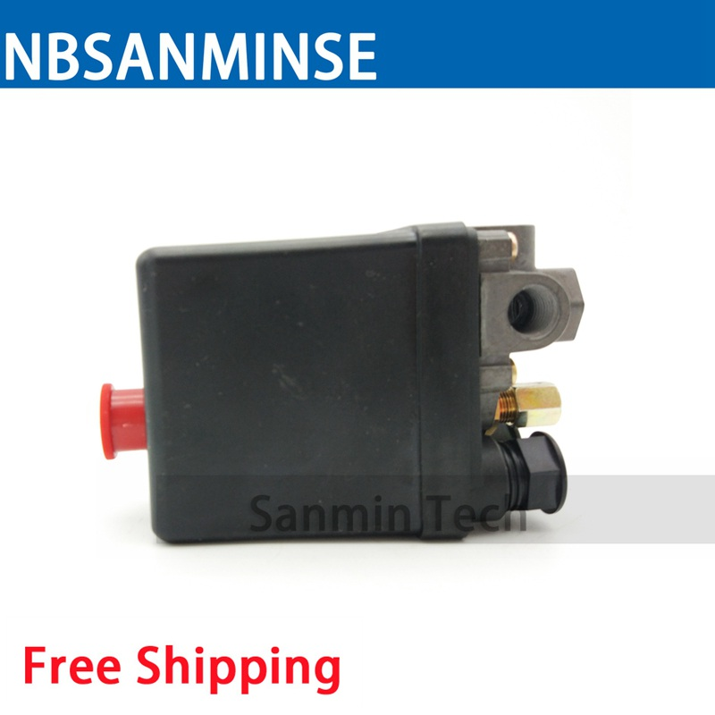 SMF 10 - L 1/4 NPT Air Compressor Pressure Switch Pressure Operated Electric Switch Easy Mounting Pressure Switch NBSANMINSE