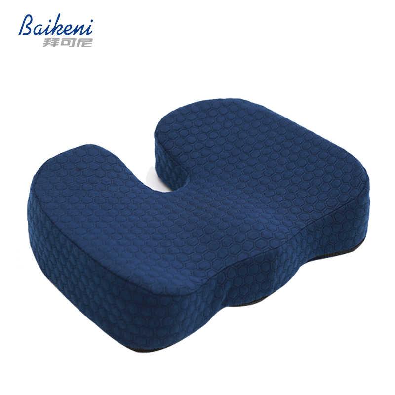 カーシートクッション低反発尾骨整形外科椅子クッションリリーフ痛み用坐骨神経痛 Almofada 人間工学痔