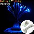 Cadenas de Led Batería Operado 3 M 30 LED 5M10M LED Cadena Luces de Navidad Garland Partido Decoración de La Boda de Hadas de la Navidad luces