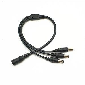 Image 3 - Rozdzielacz mocy DC kabel wtykowy do kamera do monitoringu CCTV akcesoria adapter do zasilacza 12V
