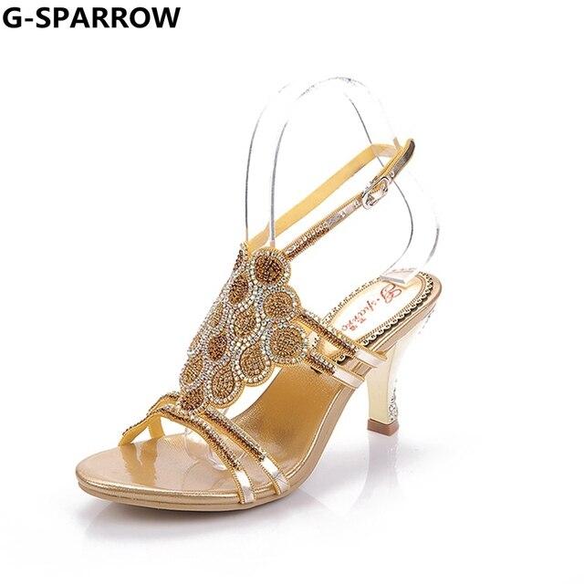 51ae89bb6 Venda QUENTE! mulheres Da Moda sandálias sapatos de Casamento e Festa À  Noite Vestido Sexy