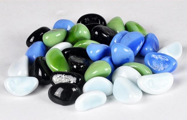 Decorative Pebble Stones 50 Pieces For Vase Fish Tank Landscape