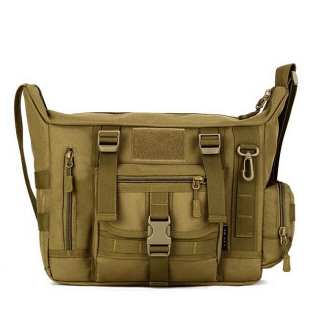 A4 quente Militar Molle Ombro Mochila Câmera de Médio Grandes Homens Messenger Bags Malas de Viagem 14 Polegada Laptop CrossBody Bolsa de Ombro Funda