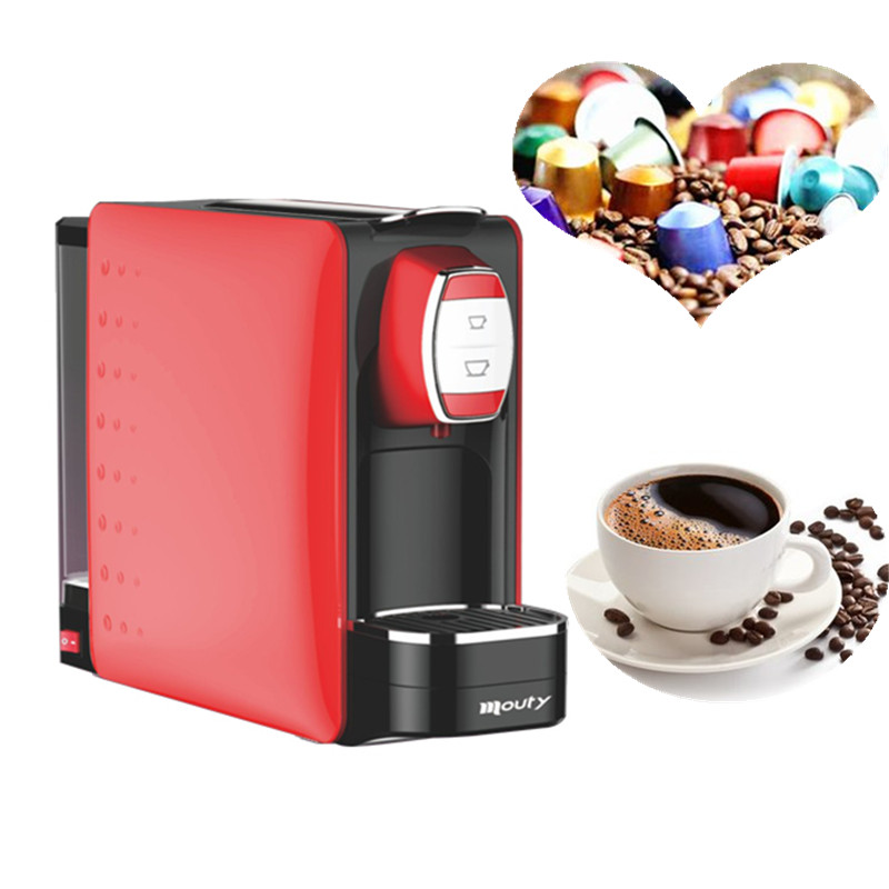220v household semi-automatic multifunction intelligent espresso capsule coffee maker italy espresso coffee machine semi automatic maker cup warming plate kitchen