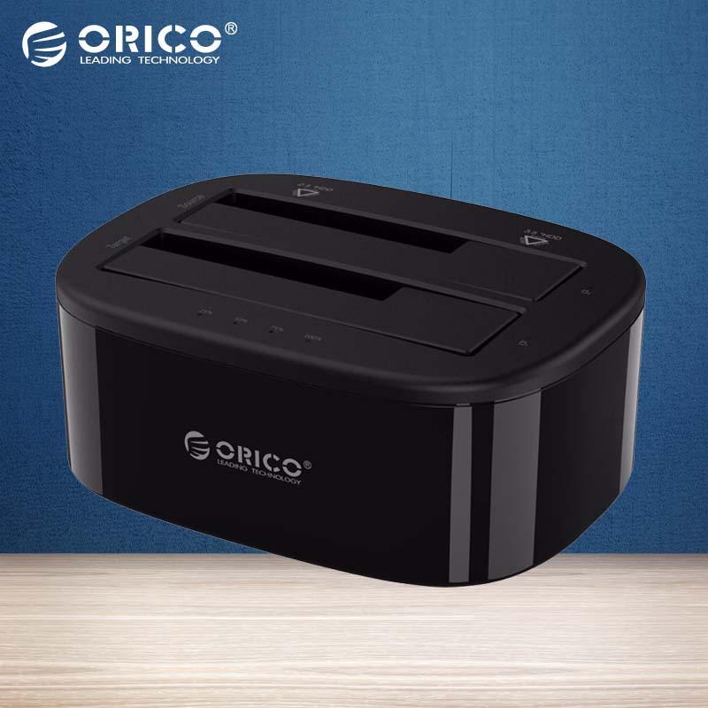 Prix pour ORICO USB 3.0 à SATA Double-Bay Disque Dur Station D'accueil pour 2.5/3.5 pouce HDD/SSD avec Hors Ligne Clone Fonction [UASP Protocole]