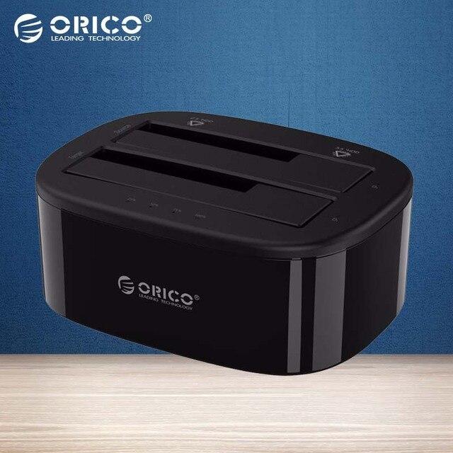 ORICO USB 3.0 para Dual SATA-Bay Hard Drive Docking Station para 2.5/3.5 polegada HDD/SSD com a Função Clone Desligada [Protocolo UASP]