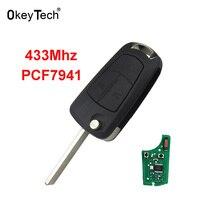 OkeyTech Remote Key Car Switchblade Flip Key 2 Buttons For Vauxhall Opel Astra H J G