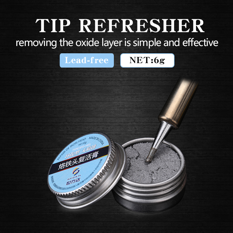 Soldering Iron Lead-Free Tip Refresher Clean Paste For Oxide Solder Iron Tip Head Resurrection Repair Tools