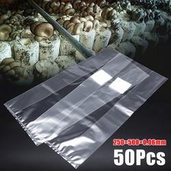 50Pcs 250x500x0.06mm PVC Mushroom Grow Bag Substrate High temp Pre Sealable