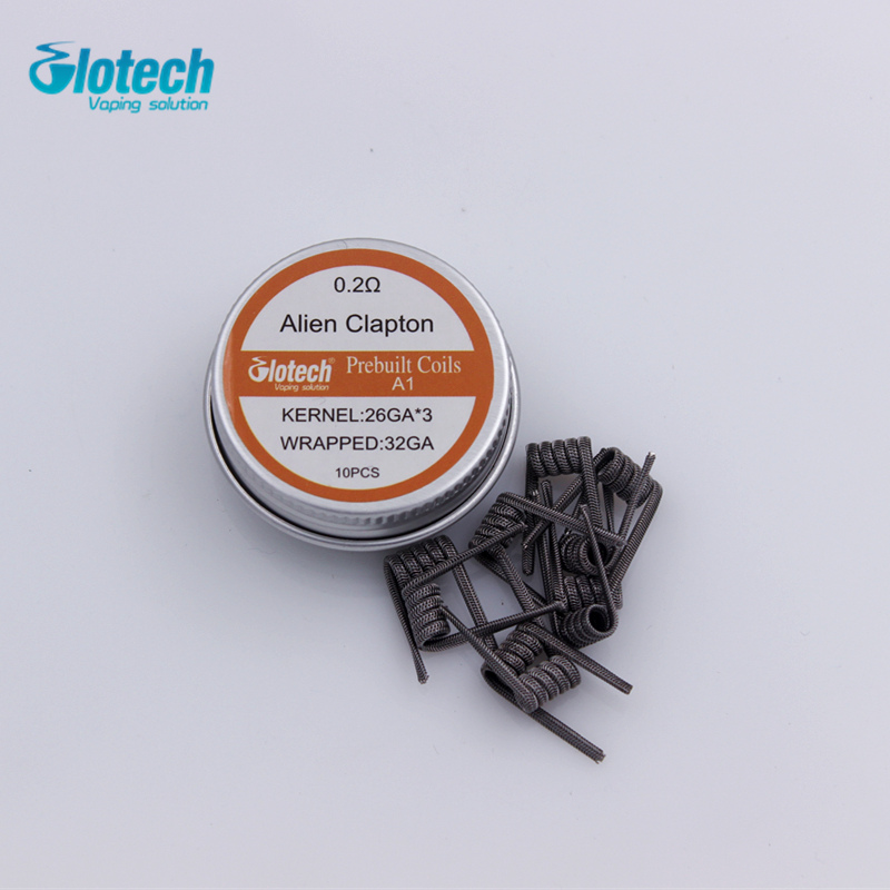Glotech Alien Clapton Staple staggered premade coils Vulcan Torch Hoffa Giant prebuilt coil for RDA RBA Atomizer DIY vaporizer enlarge