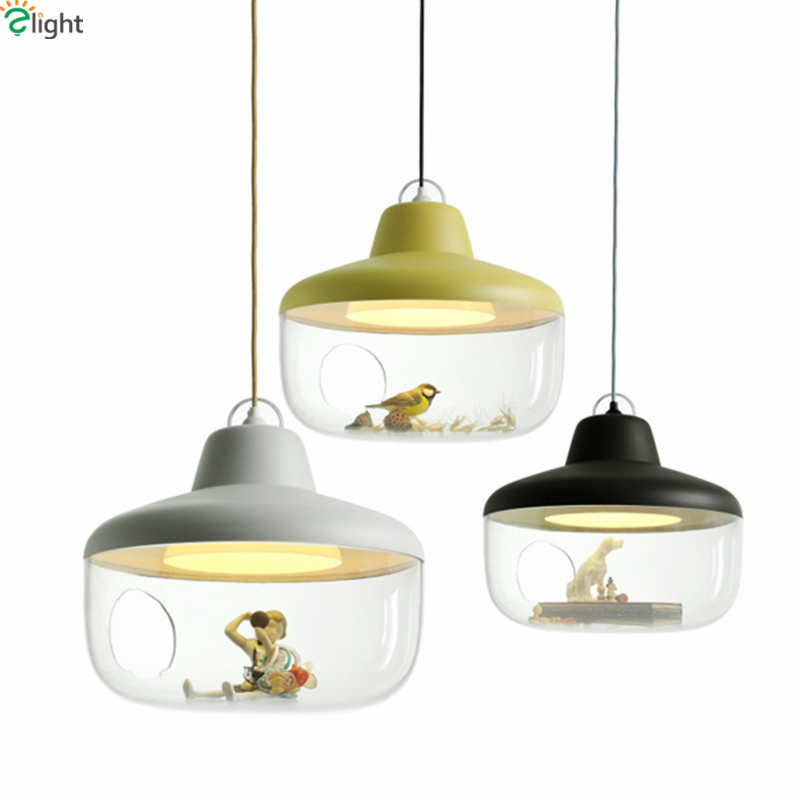 Post Modern Hommin Painted Metal And Clear Acrylic Led E27 Pendant Light Dia45cm Minimalism Dining Room Suspension Lamp modern minimalism painted metal windmill