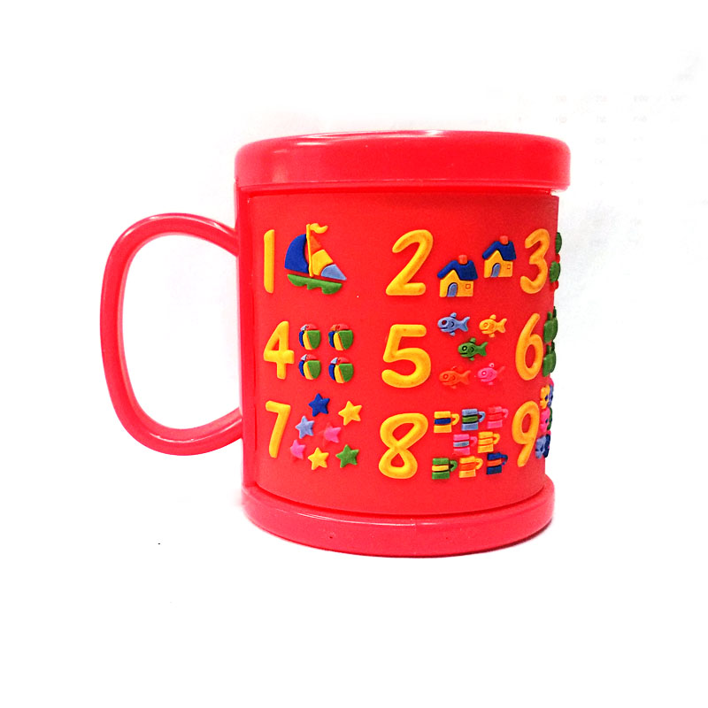 New Arrival Plastic Elegant Coffee Mugs Kids Cups Red Embossed Figure Water Tumbler With Lids Drinkware Tools Free Shipping In From Home Garden