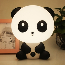 Cute Cartoon panda Night light table desk lamp LED for Children Baby Gifts Bedroom bedside Sleeping lamp indoor decor Lighting цена в Москве и Питере