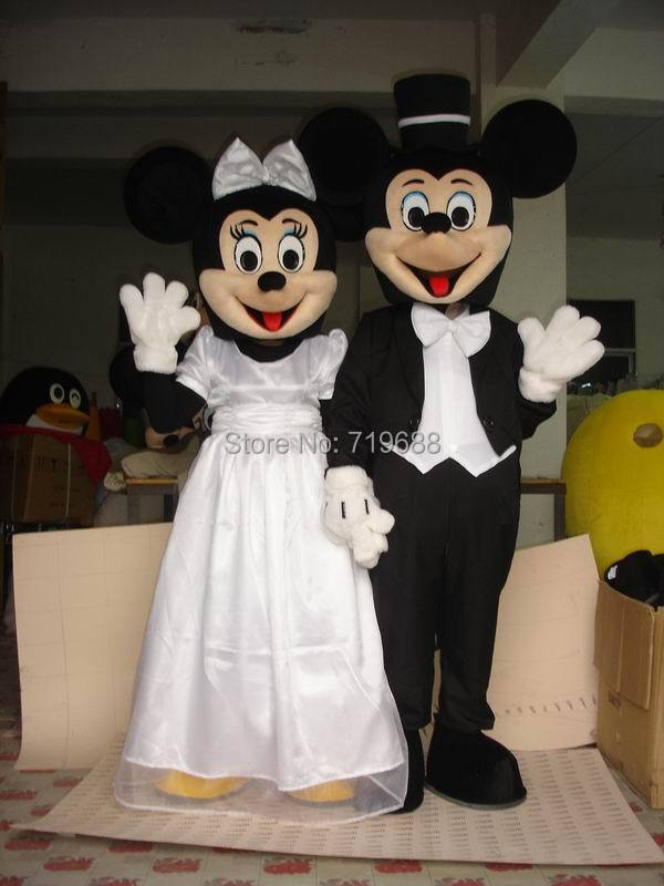 Hot Sales Adult Party Dress Version Minnie Mascot Costume Pink ...