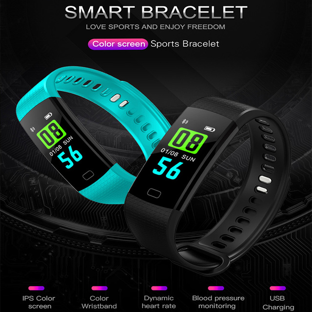 Y5 Smart Band Watch Color Screen Wristband Heart Rate Activity Fitness tracker Smart Electronics Bracelet VS  Miband 2 1