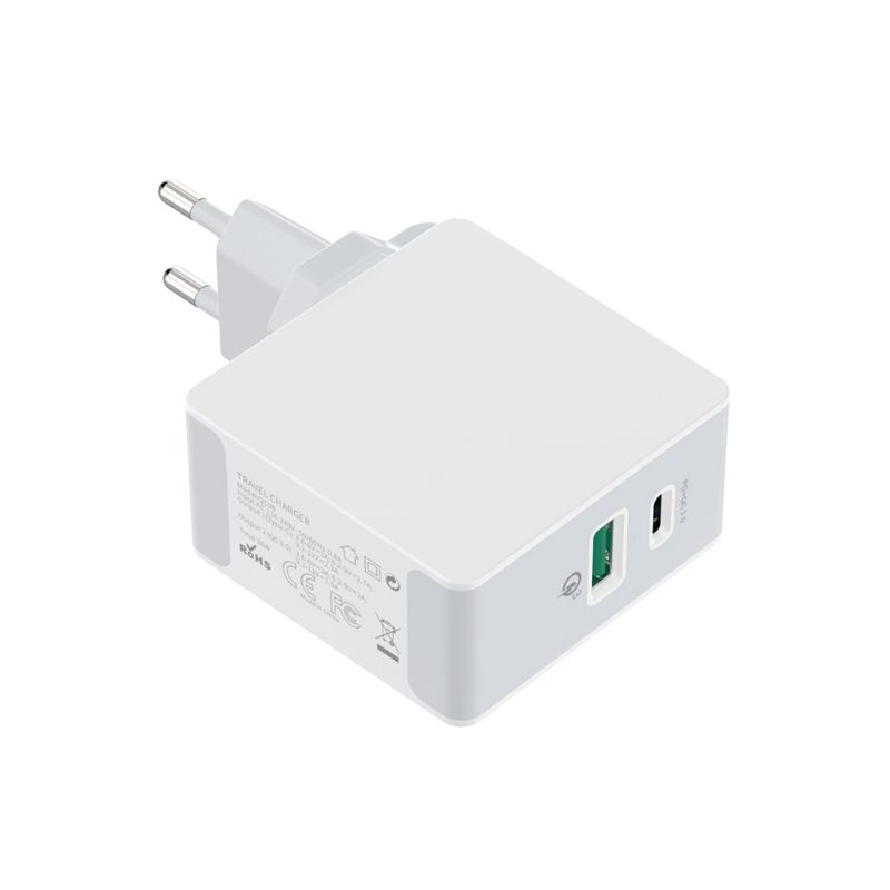 36W QC3 0 PD USB C Dual Ports Fast Charger Home Travel Wall Quick Charging Power Adapter for iPhone Samsung Galaxy Cellphone in Mobile Phone Chargers from Cellphones Telecommunications