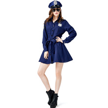 Umorden Police Officer Cops Costume for Women Teens Girls Halloween Purim Carnival Mardi Gras Party Dress