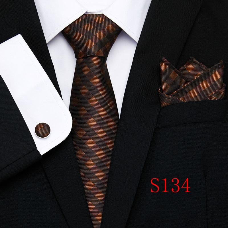 100 Silk Solid Floral Men 39 s Tie Set 8cm Ties Handkerchief Cufflinks Sets For Man Red Gold Brown Necktie for Men Wedding Gift in Men 39 s Ties amp Handkerchiefs from Apparel Accessories