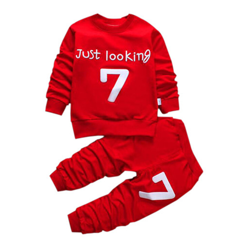 for 12 month - 6 years 2017 New Children Clothing Sets Baby Boys girls Cartoon Clothes Hoodies+Pants 2pcs Boys Clothing Set