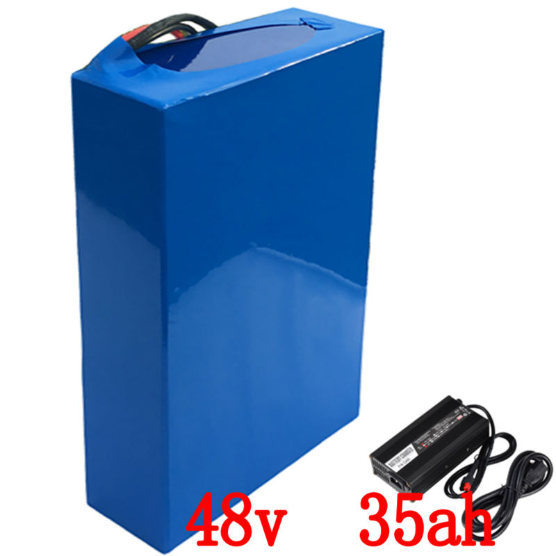 48V 35Ah 2000W e-Bike Battery Lithium Battery Pack For 48V Electric Bike Drive Motor With 54.6V  5A Charger and 50A BMS Battery 1800w lithium battery 48v 40ah for electric bicycle drive motor 48v with 54 6v charger and 50a bms 48v ebike battery diy bike