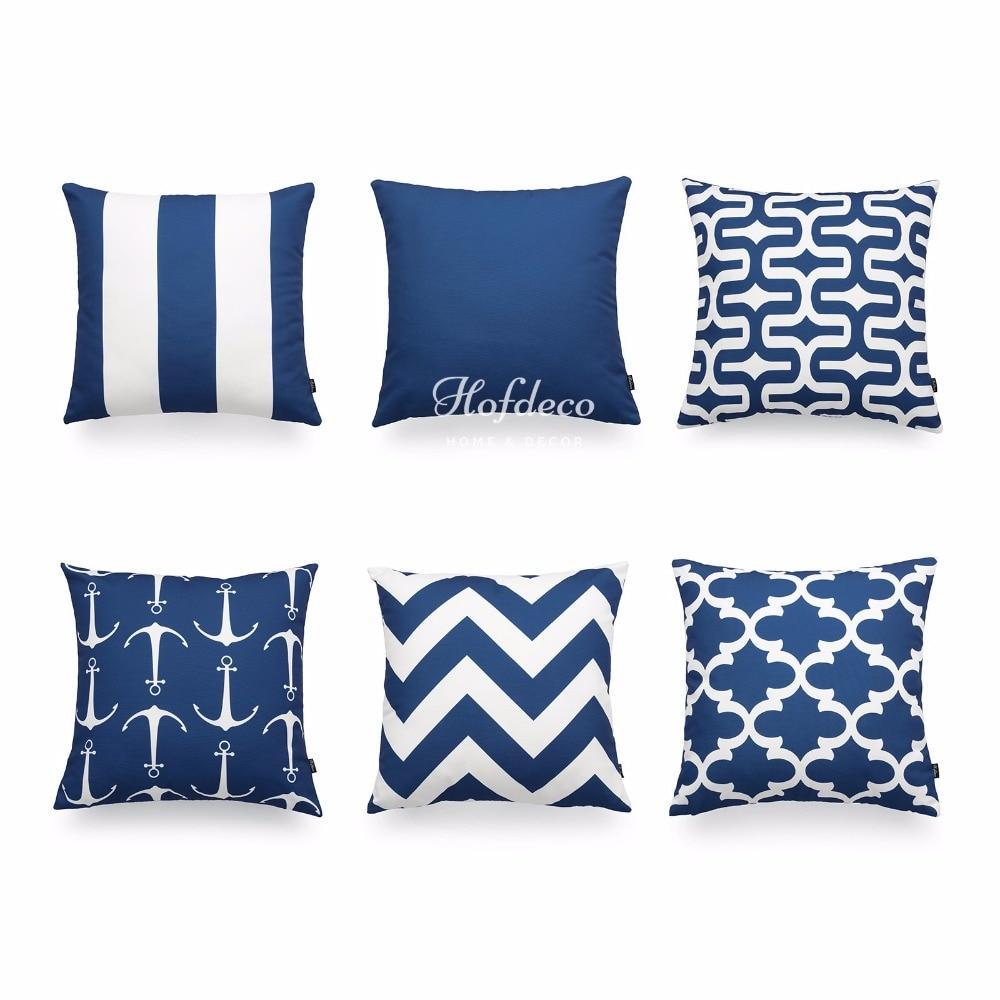 Scandinavian Pillow Covers : Aliexpress.com : Buy Hofdeco Decorative Throw Pillow Cover Navy Blue Scandinavian Geometric ...