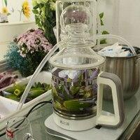 2.5L Glass Chinese medicine distiller household pure dew machine mini essential oil refining equipment electric heating brewer