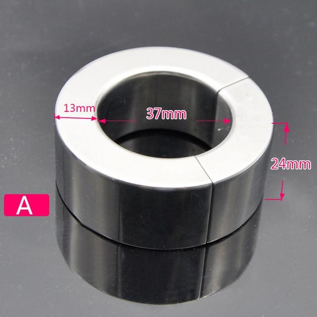 Zware Soort Scrotum Bondage Metalen Cockring Balzakstretcher Gewichten Rvs Magnetische Zuig Penisring Cockring Speeltjes