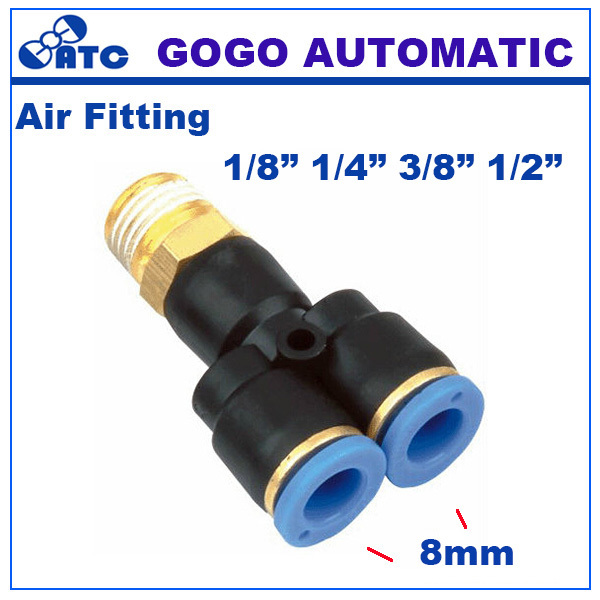 10pcs a lot tee pipe fitting pneumatic y shaped hose connector px 8 01 02 03 04 for air cylinder. Black Bedroom Furniture Sets. Home Design Ideas