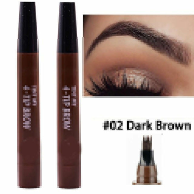 9 Colors 4 Head Henna Eyebrow Marker Pencil Microblading Liquid Eye Brow Pen Eyebrows Shades Makeup Sourcil Eyebrow Tint Tatto Pencil Eyebrow Henna Makeup Tools 1
