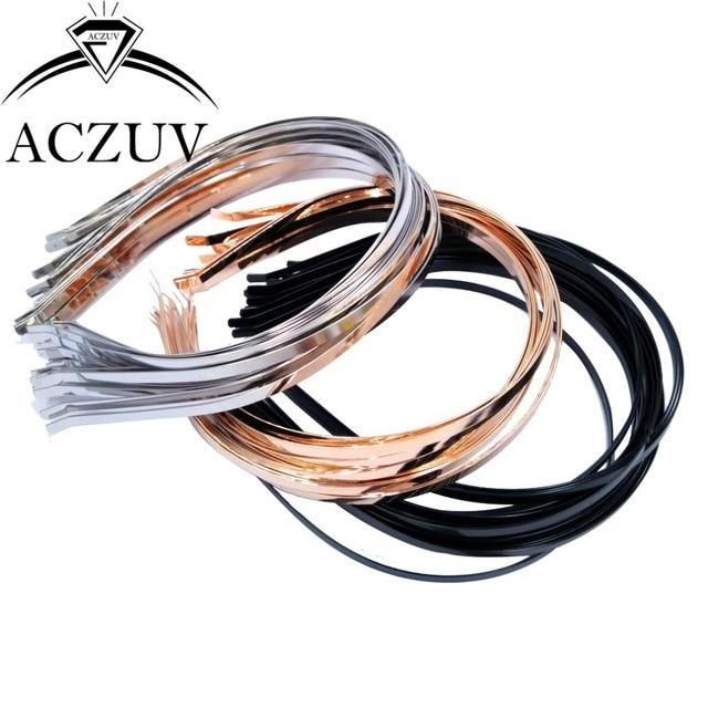 Gros Lot 100 bandeaux en métal bandeau cheveux bijoux accessoires de fabrication Rhodium/noir/KC or 3mm-4mm-5mm-6mm-7mm Opational