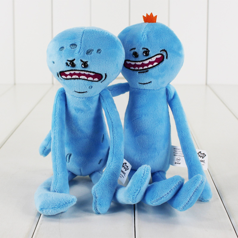 2pcs/lot Different Styles 25cm Rick And Morty Happy Sad Meeseeks Stuffed Plush Toys Kids Christmas Gift