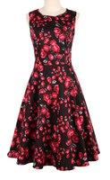 Großhandel kleidung retro inspiriert UK kleid vintage kreis xxxl 50er rockabilly pinup schärpe femme robe kleidung kostenloser versand