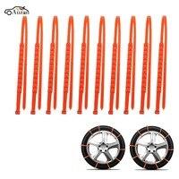 10Pcs Winter Anti Skid Car Snow Tyre Tire Chains Beef Tendon Vehicles Wheel Nylon Chain