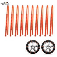 10Pcs Winter Anti Skid Car Snow Tyre Tire Chains Beef Tendon Vehicles Wheel Nylon Chain