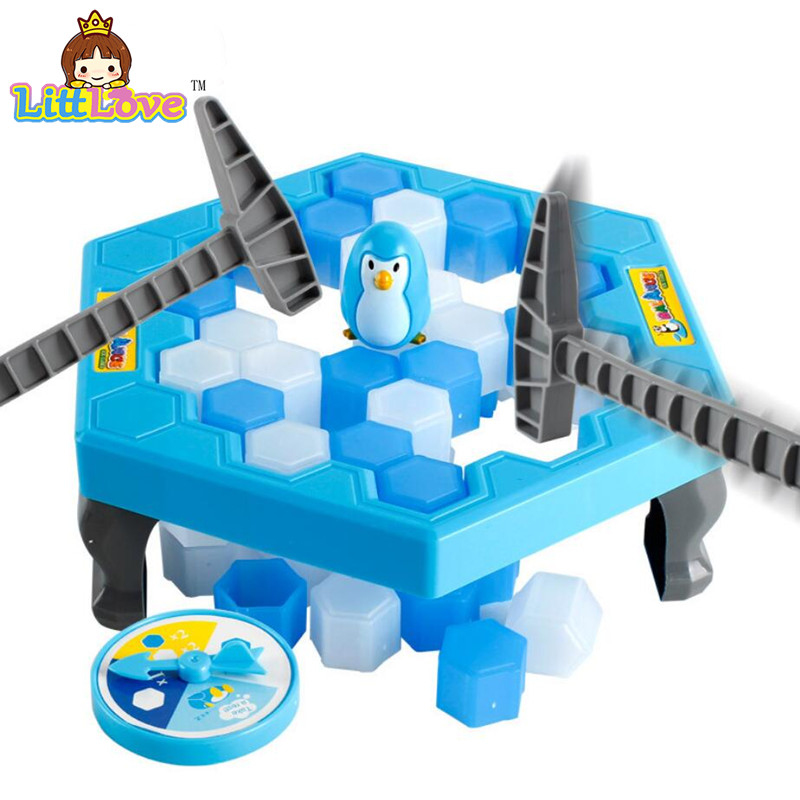 LittLove Penguin Ice Breaking Save The Penguin Great Family Toys Desktop Game Fun Game Who Make The Penguin Fall Off Lose Game