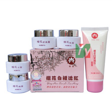 wholesale & retail ying hua bai li tou hong whitening in red day+night+pearl+eye cream+ cleanser 5pcs/set