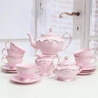 Творческий низкой костяного фарфора Британский послеобеденный чай Набор Европейский стиль чашка кофе костюм черный чай чашка изысканный у
