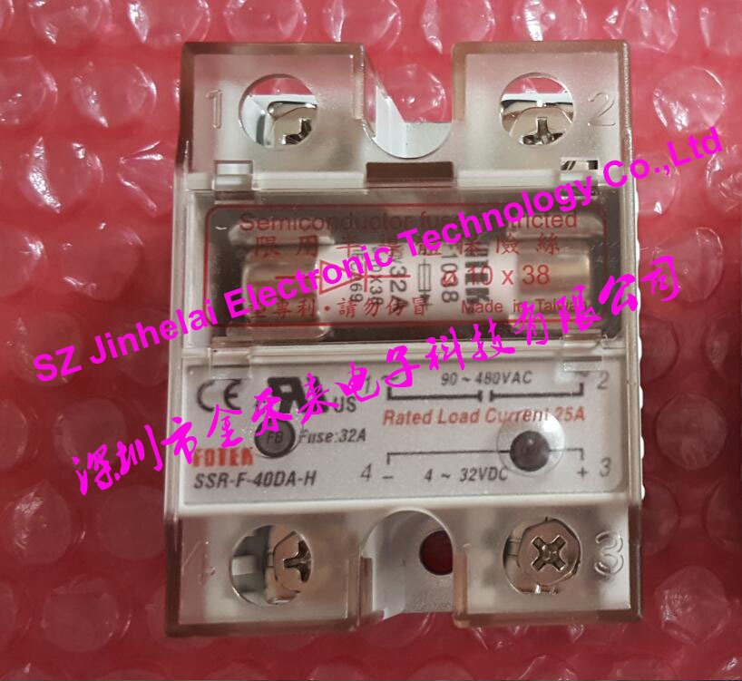 все цены на 100% Authentic original SSR-F-40DA, SSR-F-40DA-H FOTEK Semiconductor fuse restricted solid state relay