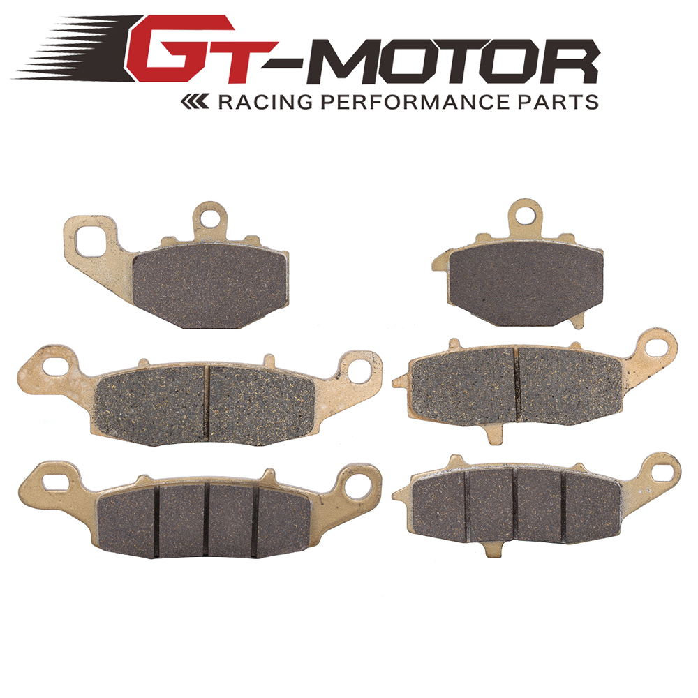 Motorcycle Front and Rear Brake Pads For KAWASAKI GPZ1100 95-98 Z750 ZR750 04-07 Z750S 05-07 ER-6N 2006-2013 for triumph speed triple 955cc 02 04 motorcycle front and rear brake pads set