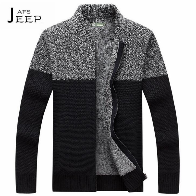 JI PU Fashion Design Mans Patchwork Elasticity Sweater,Winter Caxemira thickness keep warmly cardigan knitted sweaters man