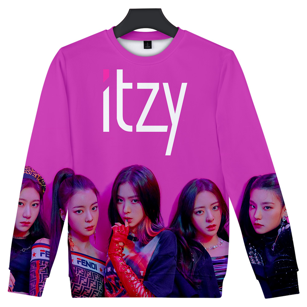 Women's Clothing Itzy Drop Shopping Dress Fashion Women Hooded Sweatshirt 2019 New Kpop Clothes Cool Pullover Plus Size