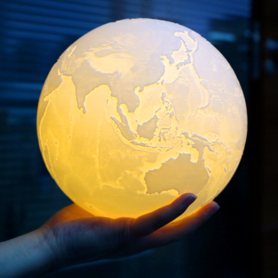 3D Light Print Earth Lamp Jupiter Lamp Colorful Moon Lamp Rechargeable Change Touch Usb Led Night Light Home Decor Creative Gift