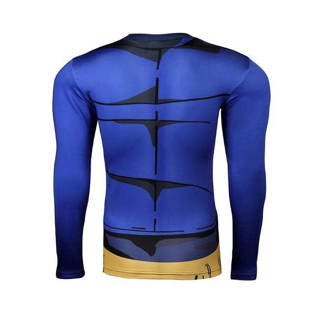 2016 new Women/men Dragon ball z SON GOKU fitness long sleeve T shirt Fashion 3D Printed anime cartoon Tee shirt homme