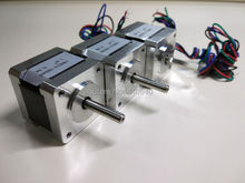 3 pieces 3D Printer Stepper Motor 14HS13-0804S L34mm Nema 14 with 1.8 deg 0.8A 18 N.cm equal to 14HY3402 and 35HS3408