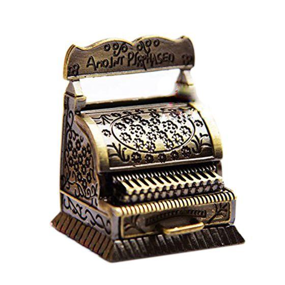 1/12 Dollhouse Miniature Metal Vintage Carving Cash register Quality ...