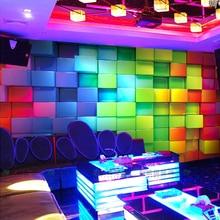 Wholesale Colourful Plaid 3d Wall Mural Wallpaper for KTV Ba