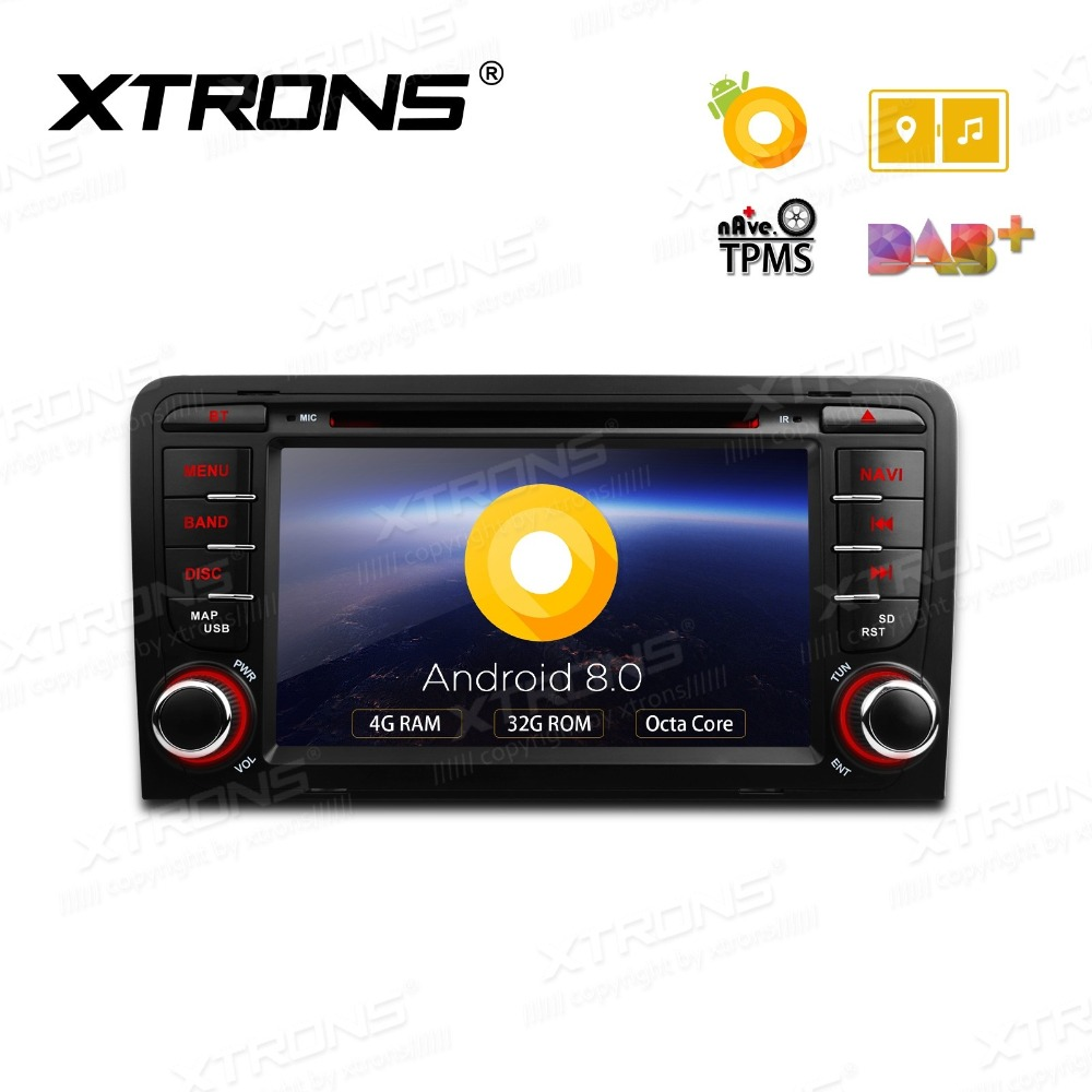 Android 8.0 OS 7 Car DVD Multimedia Radio for Audi A3 2003-2012 & S3 2006-2012 & RS3 2011-2012 with Multi-Window View Support